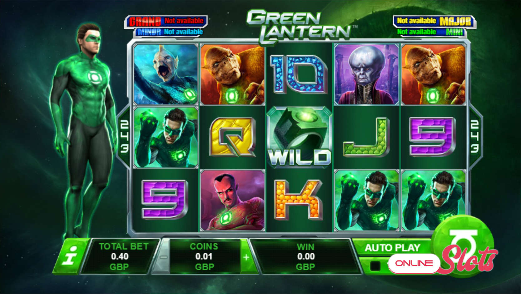 Green Lantern from Playtech Slot Review