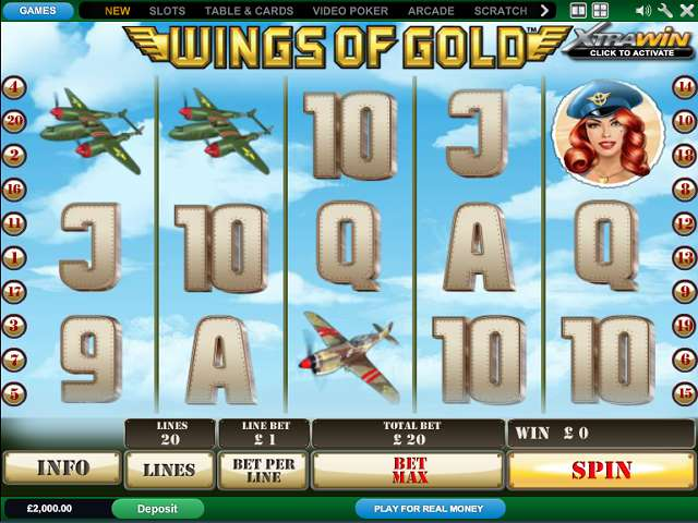 Play Slot Wings of Gold by Playtech